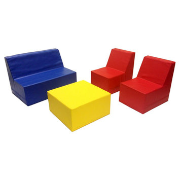 ECR4KIDS Softzone 4-Piece Youth Seating Set