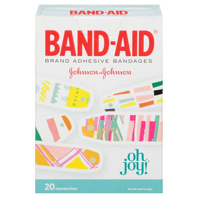 Johnson & Johnson Band-AID Oh Joy! Adhesive Bandages - 20 Count, Multi-Colored