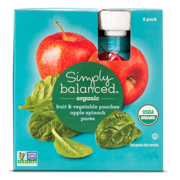 Simply Balanced SB Apple Spinach F & V 3.2 oz Pouch