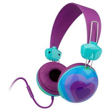 Merkury Innovations Pride Heart Headphone with Microphone - Purple