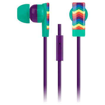 Merkury Innovations Pride Rainbow Chevron Earbud with Microphone