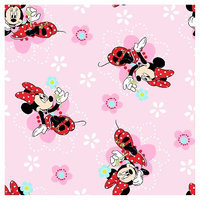 Minnie Mouse Disney Minnie Floral Badges Fabric