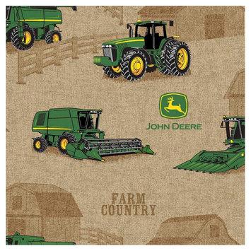 John Deere Country Farm Tractor Fabric