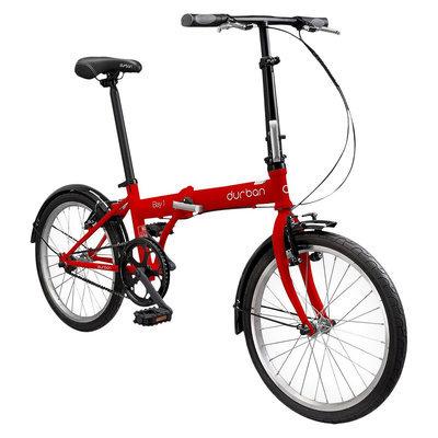Durban Bay 1 One Speed Folding Bike - Red