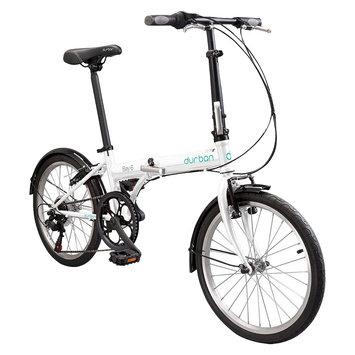 Durban Bay 6 Six Speed Folding Bike - White