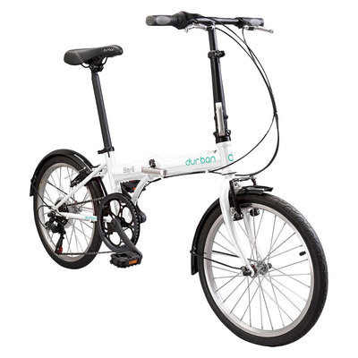 Durban Bay 6 Six Speed Folding Bike - White