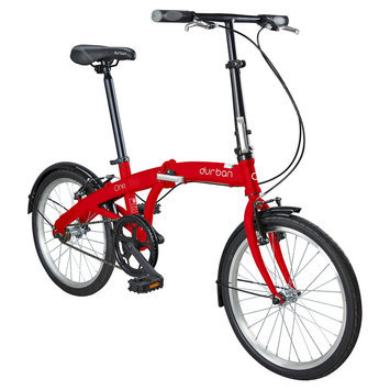 Durban One 1 Speed Folding Bike - Red