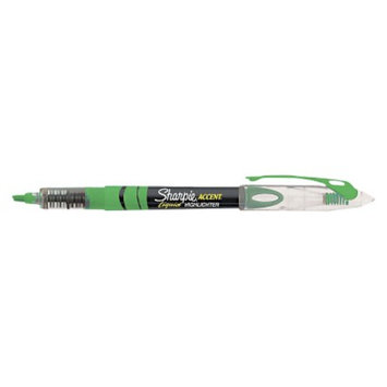 Sharpie Accent Liquid Pen Style Chisel Tip Highlighter - Green (12