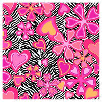 Springs Creative Zebra Floral No Sew Fleece Throw Kit