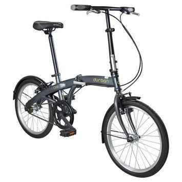 Durban One 1 Speed Folding Bike - Grey