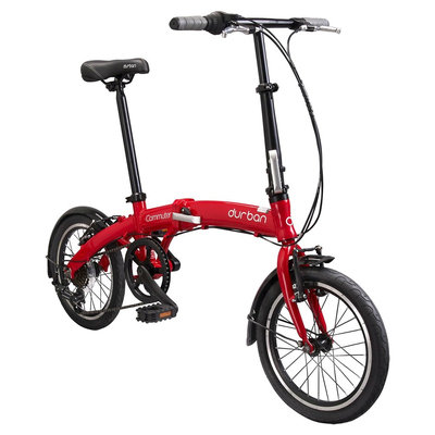 Durban Commuter 6 Speed Folding Bike - Red