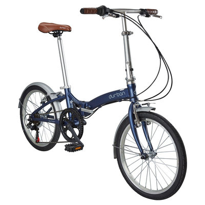 Durban Metro 6 Speed Folding Bike - Dark Blue