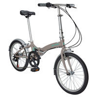 Durban Metro 6 Speed Folding Bike - Wine