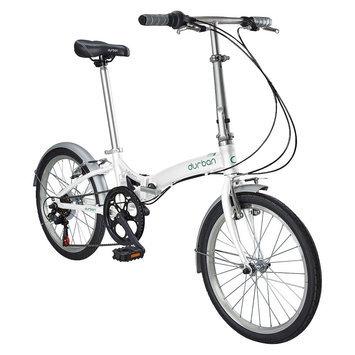 Durban Metro 6 Speed Folding Bike - White