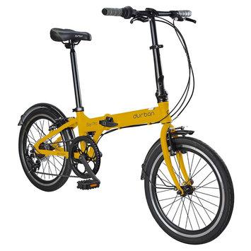 Durban Bay Pro 7 Speed Folding Bike - Yellow