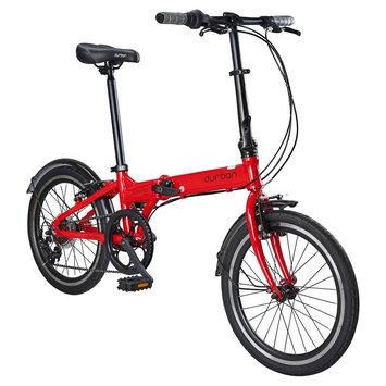 Durban Bay Pro 7 Speed Folding Bike - Red