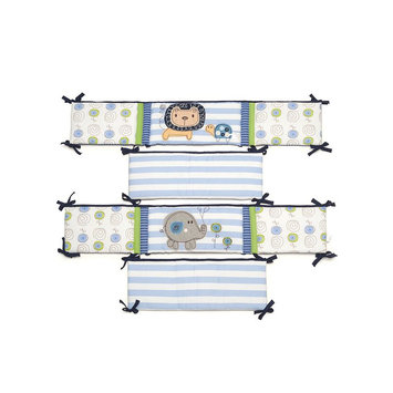 Kids Line, Llc Kids Line Jungle Doodle All Around Bumper - Blue