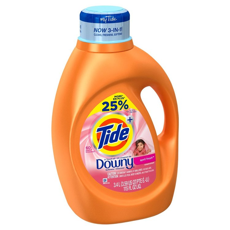 Tide Plus Touch of Downy April Fresh Liquid Laundry Detergent 115 Floz