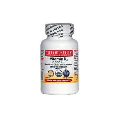 Vibrant Health - Vitamin D3 2000 IU - 100 Tablets