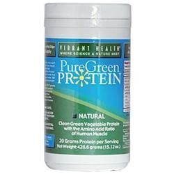 Vibrant Health PureGreen Protein Natural - 15.21 oz