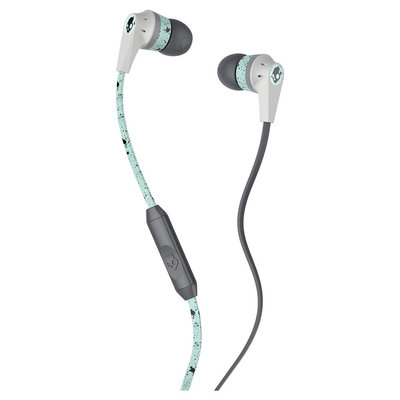 Skullcandy - Ink'd 2 Earbud Headphones - Black/mint