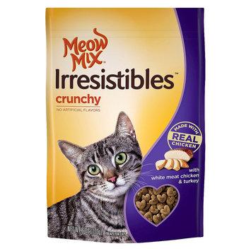 Big Heart Pet Brands 6.0oz Meow Mix Irresistibles Treat Crunchy with White Meat Chicken & Turkey