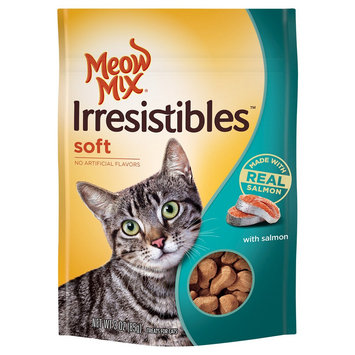 Big Heart Pet Brands 3.0oz Meow Mix Irresistibles Treat Soft With Real Meat Grilled Salmon