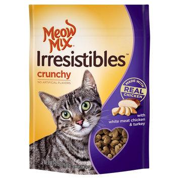 Big Heart Pet Brands 2.5oz Meow Mix Irresistibles Treat Crunchy White Meat Chicken & Turkey