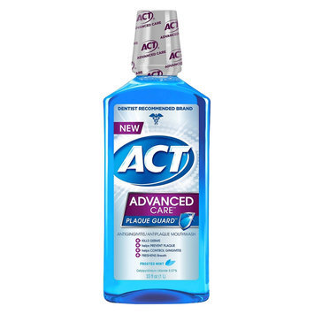 ACT Advanced Care Plaque Guard Frosted Mint Antiplaque Mouthwash