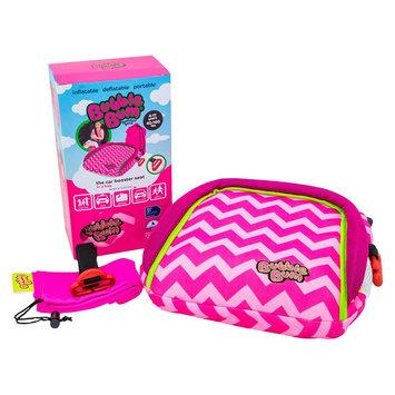 BubbleBum Booster Car Seat (Pink Chevron)