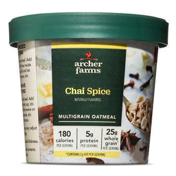Bay Valley Foods Archer Farms Vanilla Chai On-The-Go Oatmeal Cup 1.8oz