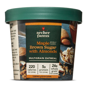 Bay Valley Foods Archer Farms Maple Brown Sugar On-The-Go Oatmeal Cup 1.8oz