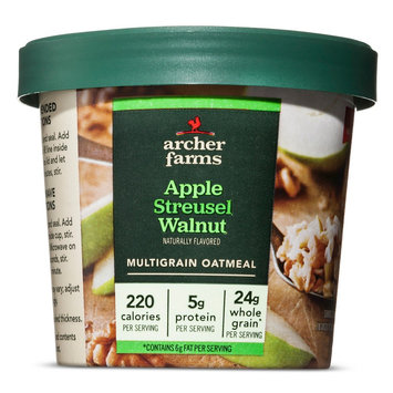 Bay Valley Foods Archer Farms Apple Streusel & Walnut On-the-Go Oatmeal Cup 1.8oz