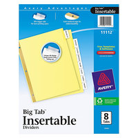 Avery WorkSaver Big Tab Reinforced Dividers W/ Clear Tabs - 8 - Tab - Letter - Buff - 1/Set
