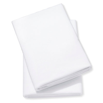 2pk Knit Fitted Crib Sheet - White by Circo