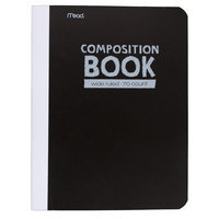 Mead Wide Ruled Poly Composition Book - 70 pages - Black
