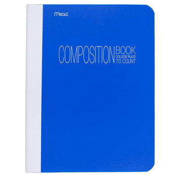 Mead College Ruled Poly Composition Book - 70 pages - Blue