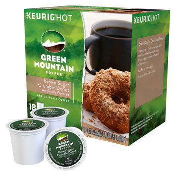 Green Mountain Coffee Brown Sugar Crumble Donut Medium Roast Coffee K-Cups 18 ct