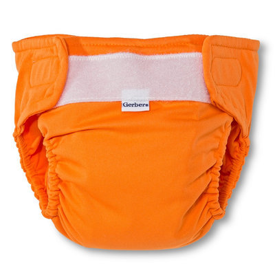 Gerber Newborn All in One Reusable Diaper with Insert - Orange M