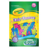 Gum Brand GUM Crayola Kids' Flossers - 75 Count
