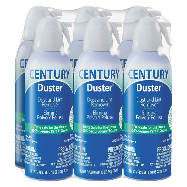 Dust-off Century Duster Disposable Compressed Gas Duster - 10 oz - 6/Pk