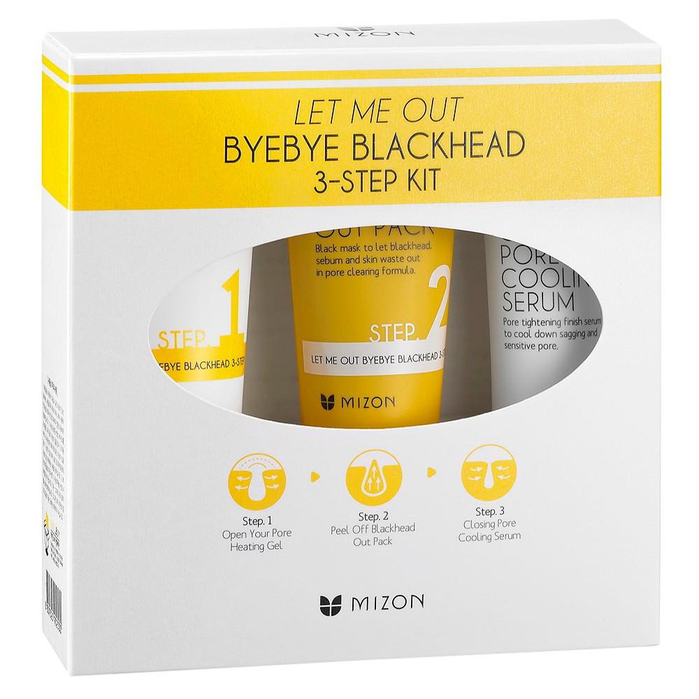 Mizon Let Me Out Bye-Bye Blackhead 3-Step Kit