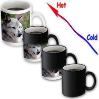 Recaro North 3dRose - WhiteOak Photography Wolves - Grey Wolf Posing - 11 oz Transforming mug