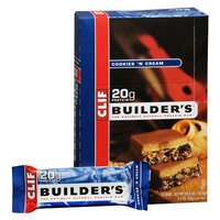 Clif Bar Builder's Protein Bars Cookies 'N Cream,12 Pack