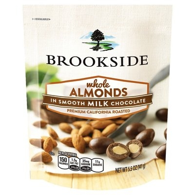 Hershey Foods Corporation Brookside Milk Chocolate Covered Almond Pouch