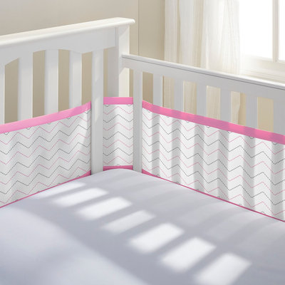 Breathablebaby Breathable Baby Liner - Pink/Grey Chevron