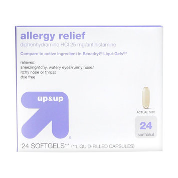 up & up Allergy Relief Liquid Filled Softgel Capsules - 24 Count