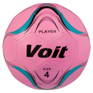 Lion Sports Voit Size 4 Player Soccer Ball Deflated - Neon Pink