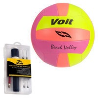 Lion Sports Inc. Voit Neon Volleyball with Ultimate Inflating Kit