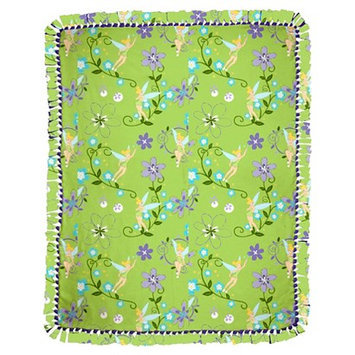 Disney Tink Floral Micro Fleece Throw Kit